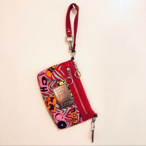 COACH Poppy large wristlet